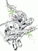Spider-Man and Deadpool by PookyWooky