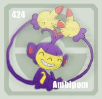 424 Ambipom by Pokedex