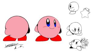 SSB64 Kirby Concept Art by LunarMew