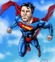 Superman colored by BrunoBull