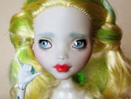 Monster high lagoona blue repaint 1 by hellohappycrafts