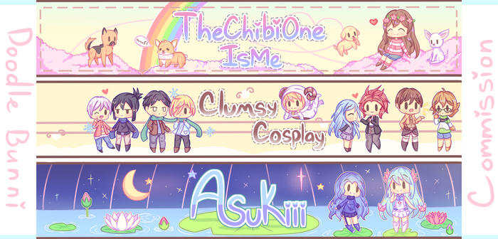 Banner Commission Batch #1 by DoodleBunni