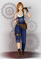 Claire concept #1 (mechanic) by MiyamotoKimiko