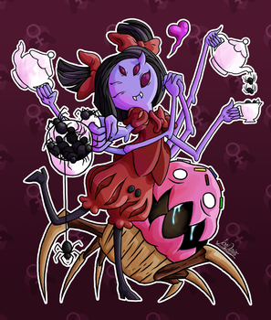 Gaming Gals 8 - Muffet by The-Quill-Warrior
