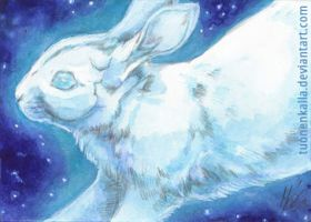 ACEO: White Planets I by Tuonenkalla