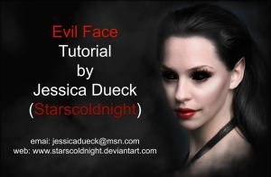 Tutorial Evil face by starscoldnight by StarsColdNight
