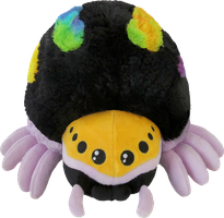 Mini Squishable Rainbow Jumping Spider by RacieB