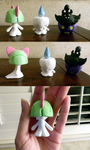 Mini Pokemon Figurines by CookiePhantom