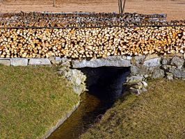 A stream, a bridge and some timber by patrickjobst