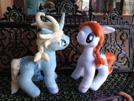 Elsa and Anna pony plushies by AniPirates
