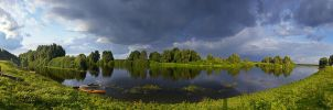Clouds above Desna-river by mannromann