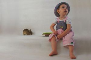 Girl and Bunny 3 by stockmichelle