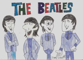 The Beatles Cartoon by CelmationPrince