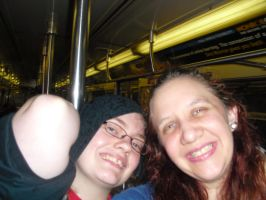 USA trip sis and me in the subway by snofs