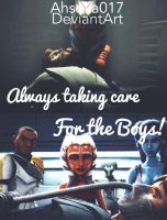 Always taking care for the boys by Ahsoka017