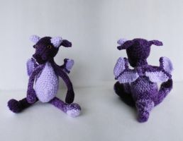 Purple Dragon Armigurumi by DarkRaven17