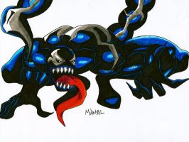Symbiote Mac Gargan (Scorpion) by MikeES