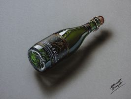 Drawing a bottle of Saison d'Alliance by marcellobarenghi
