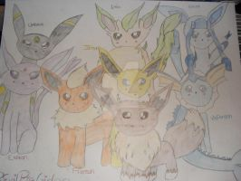 EEVEE EVOLUTIONS POSTER MADE BY ME by REvilPieGirl