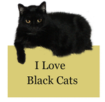 I Love Black Cats by Loulou13