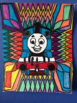 Thomas Tank Engine ColorFul Design Drawing by NWeezyBlueStars23