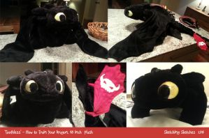 Toothless Plush #3 by Sketching-Sketches