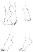 Study of Feet I by delespi