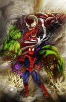 Venom-SpiderMan-Hulk by rapnex