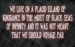A Placid Island of Ignorance by RMS-OLYMPIC