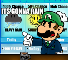 Luigi The Weather Man by SuperBomb-Omb