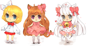 mini chibis by rabbitgun