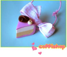 Pink cake by coffishop