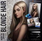 How to draw blonde hair by Tsvetka