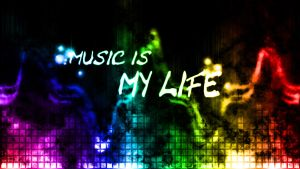 Music is my life (Wallpaper) by Hardii