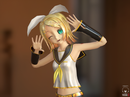 Kagamine Rin Real Time render by Syazwan133