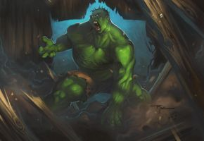 Hulk Smizzash by johnnyrocwell