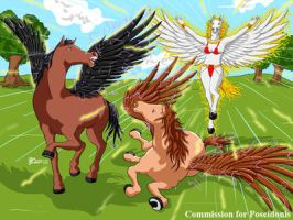 COM : Horse Goddess and her chariot scene 5 by whiteguardian