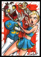 Zombies vs Cheerleaders by dsoloud