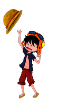 Strong World Luffy by Purrgir