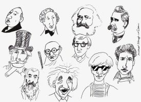Collage of famous men by michaelkragh92