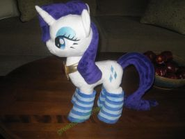 Rarity with Fire Ruby Necklace and socks -SOLD by GreenTeaCreations
