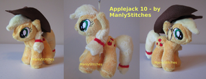 Applejack #10 (mini sized) by ManlyStitches