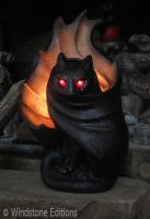 Spooky Grimalkin candlelamp by Reptangle