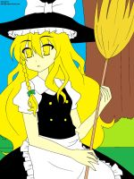 Marisa Lineart by riiko23,Colored by Me by FrozenFlyingKero