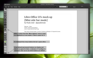 LibreOffice UI Mock-up dark 2 by pauloup