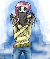 Commission: Fluttershy/bat plushie by Tao-mell