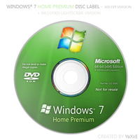 Windows 7 Home Premium Disc by yaxxe