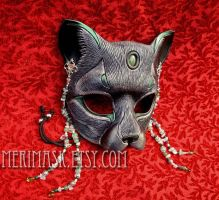 Jade Moonstone Cat Mask by merimask