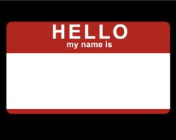 Hello My Name Is +sticker+ by littledarksprite