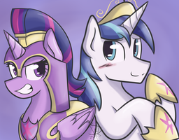 Twilight Armor and Shining Sparkle by BlacksWhites
